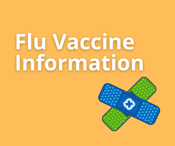 text Flu Vaccine Information and bandaids